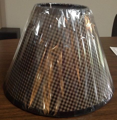 Black Check Lamp Shade