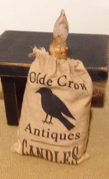 Olde Crow Grain Bag w Candle