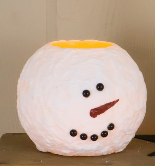 Round Snowman Candle