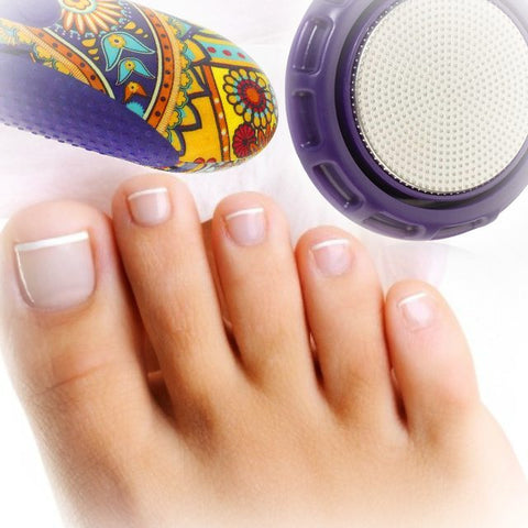At home treatment for your feet with the michael todd beauty pedi disc