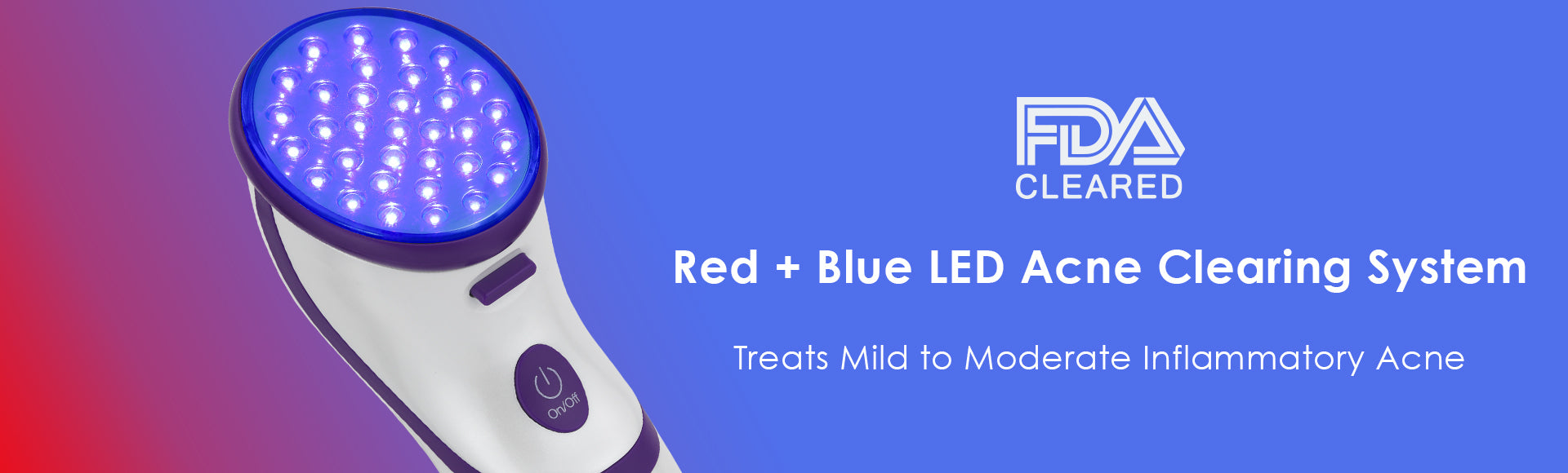 Clear Bilight Red + Blue LED Acne Clearing System