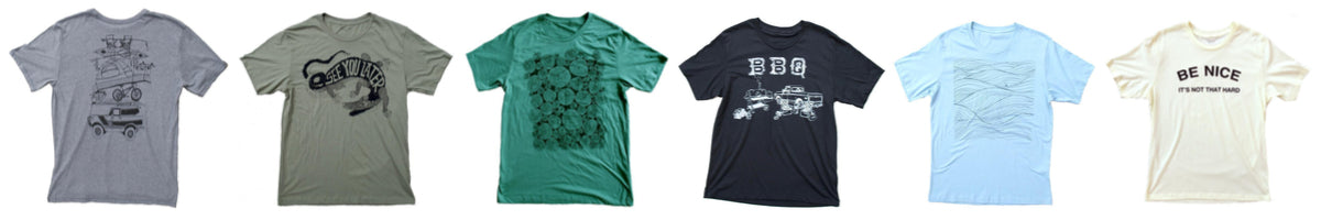 Six retro Americana styled original T-Shirts