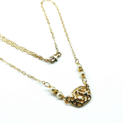 Filigree Pearl Choker Gold Filled Necklace