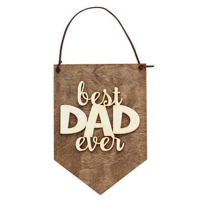 Laser Cut Wood Wall Hanging - Best Dad Ever
