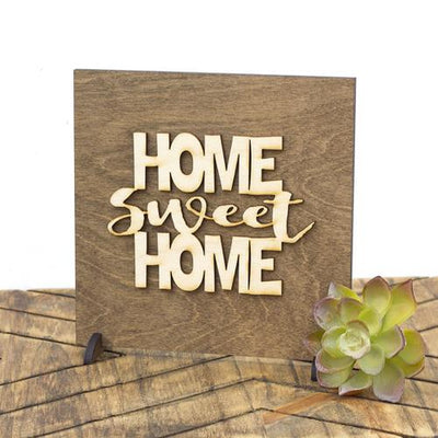 Laser Cut Wood Sign - Home Sweet Home