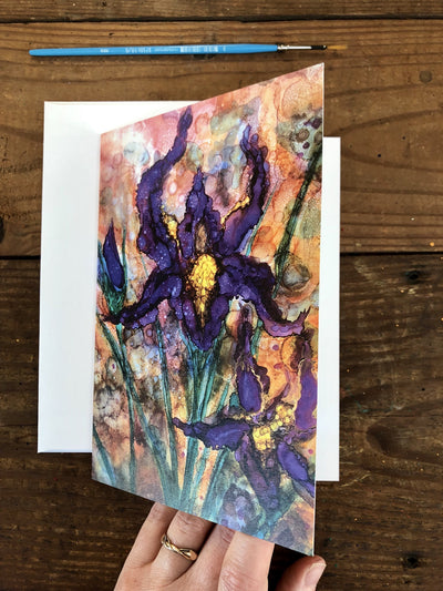 Purple Irises - Greeting Cards