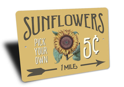 Sunflowers 5 Cents - Metal Sign - LocalWe