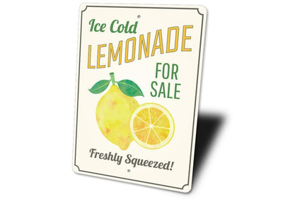 Ice Cold Lemonade - Metal Sign