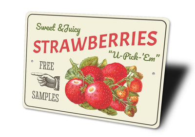 Strawberries - Metal Sign - LocalWe