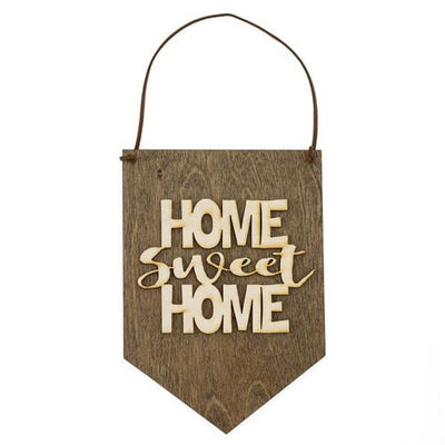 Laser Cut Wood Wall Hanging - Home Sweet Home