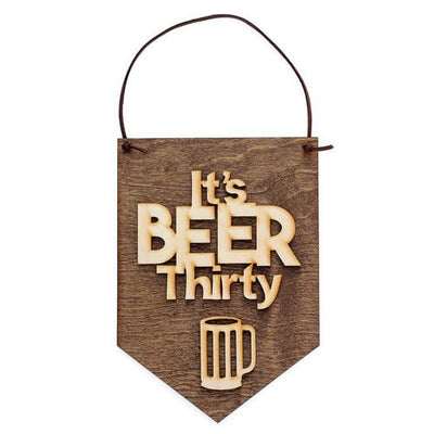 Laser Cut Wood Wall Hanging - It's Beer Thirty