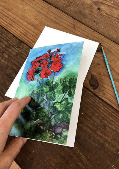 Geraniums - Greeting Cards