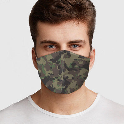 Man wearing USA Made Army Camo Face Mask
