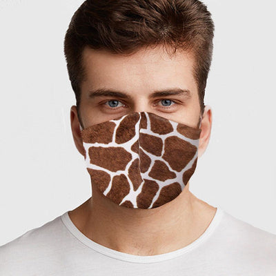 Giraffe Pattern Face Mask