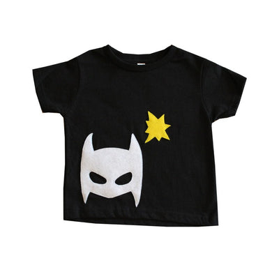 Pow - Superhero Tee and Cape Combo - Black