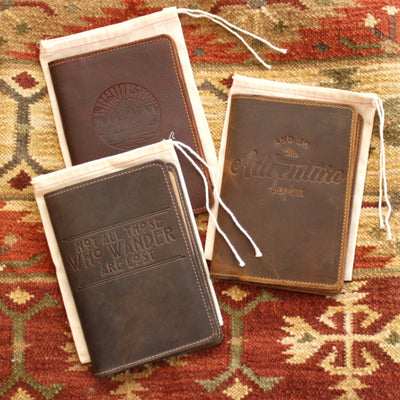 Three handcrafted leather journals embossed with inspirational quotes | LocalWe