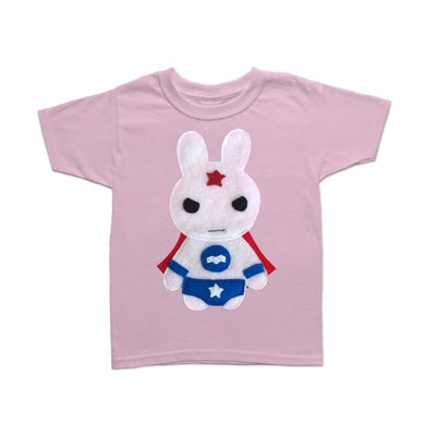 Star Bunny - Team Super Animals - Superhero Tee and Cape Combo