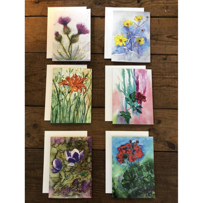 Set of six cards with flower paintings | Made in North Carolina | LocalWe