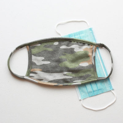 American Made Camo Cotton Face Mask with Filters