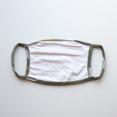 American Made Camo Cotton Face Mask with Filters Back