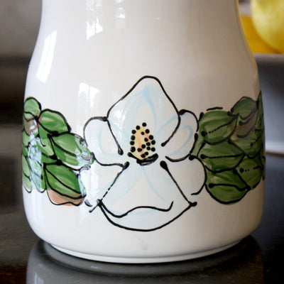 Ceramic Magnolia Utensil Holder - LocalWe