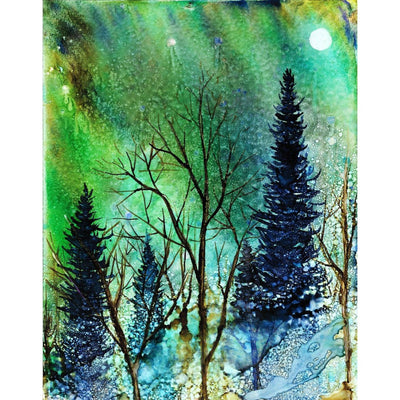 Ethereal Night Landscape - Greeting Cards
