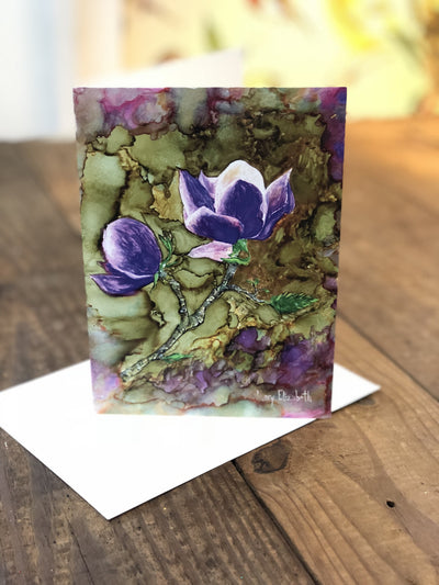 Greeting card with magnolia flowers painting on it | Made in North Carolina | LocalWe