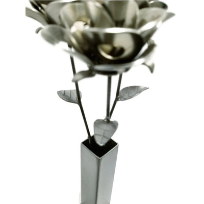 Metal Forever Roses - 3 Roses and Vase