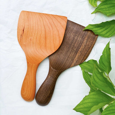 Handmade Short Wood Spatula