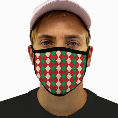 Holiday Wrap Face Mask with Filter Pocket
