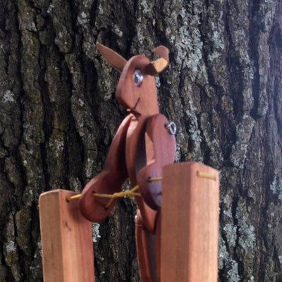 Handmade Wooden Toy - Jumpin' Jack Rabbit Kid's Toy - Shop Local AR