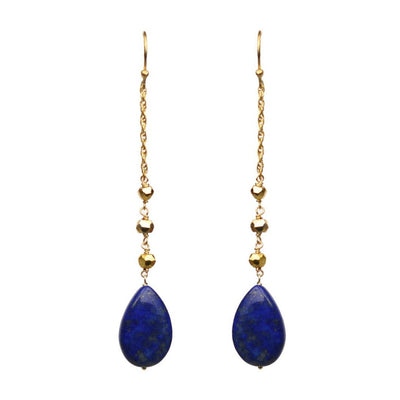 Lapis Lazuli Linear Drop Earrings