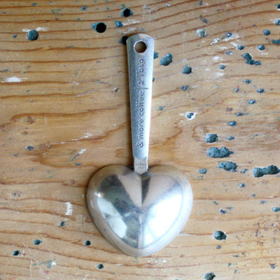 Pewter 2 Tablespoon Heart Coffee Scoop