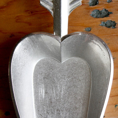 Pewter Heart Flour Scoop