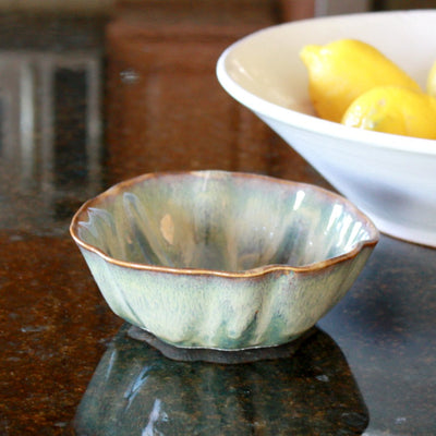 Stoneware Small Rippled Bowl