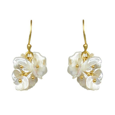 Short Keshi Pearl Cluster Earrings - LocalWe