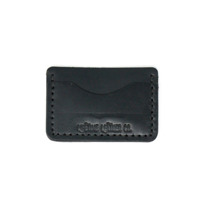 Handcrafted Black Leather Wallet, Slim for Front Pocket, Made in AZ | LocalWe