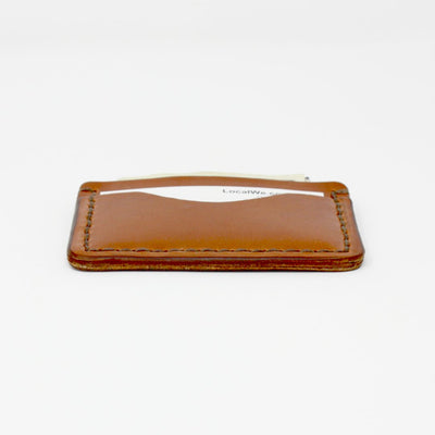 Handcrafted Brown Leather Wallet, Slim design for Front Pocket, Made in AZ | LocalWe