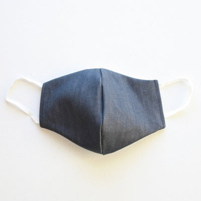 American Made Stretch Denim Cotton Face Mask with Filters