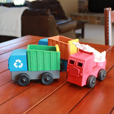 Toy Fire Truck - Recycled