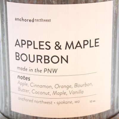 Wood Wick Soy Candle - Apples and Maple Bourbon - LocalWe