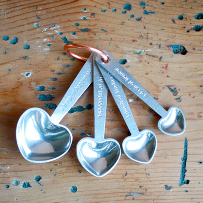 Zinc Measuring Spoons with Quotes