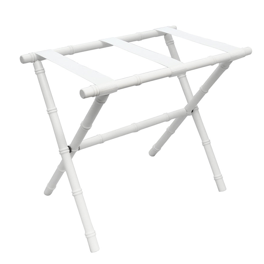 White Bamboo Luggage Rack