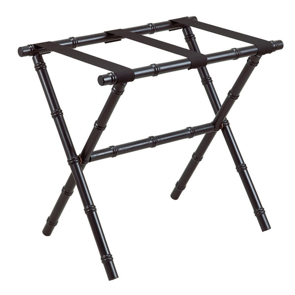 Black Bamboo Luggage Rack