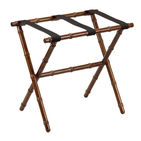 Dark Walnut Bamboo Luggage Rack