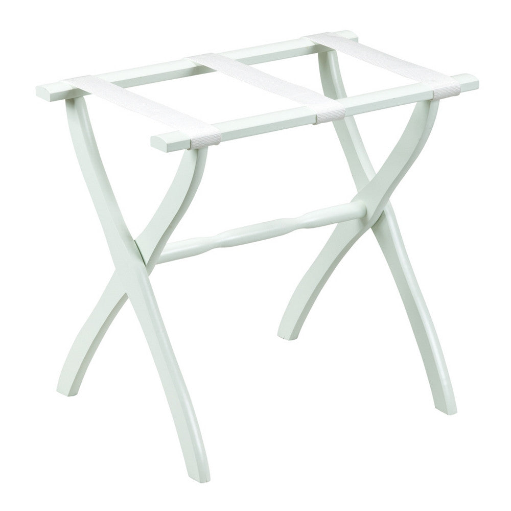 White Contour Leg Luggage Rack