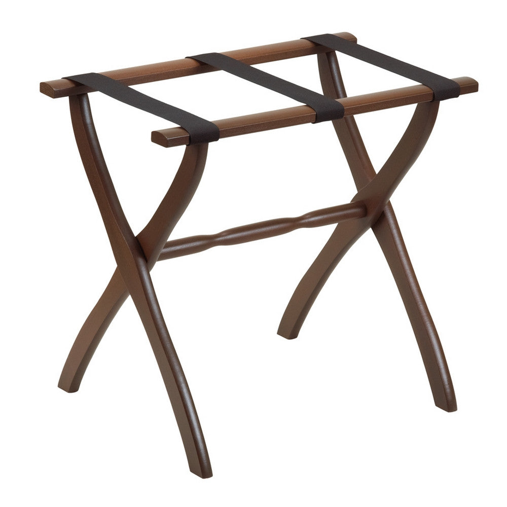 Dark Walnut Contour Leg Luggage Rack