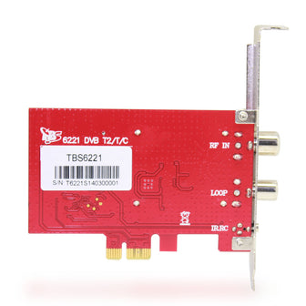 TBS6221 DVB-T2/T/C TV Tuner PCIe Card