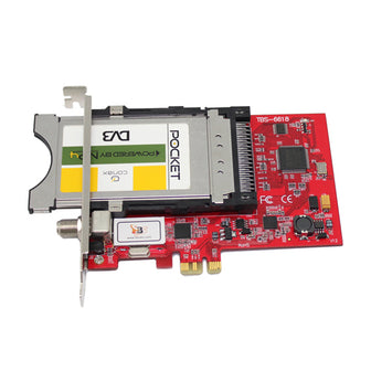 TBS6618 DVB-C TV Tuner CI PCIe Card- PC Cards for Cable PayTV