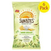 Sun Bites Walkers Sunbites Sour Cream And Cracked Black Pepper 6 X 25G